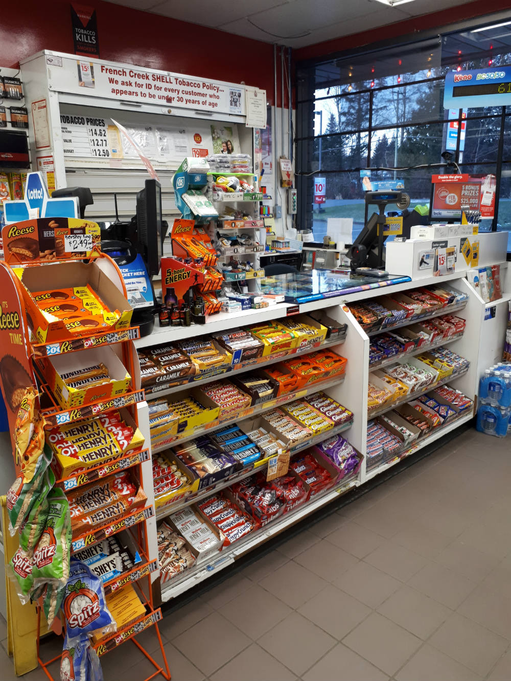 products at convenience store